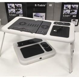 стол для ноутбука с вентилятором, держателем и регулировкой высоты E-TABLE LD-09