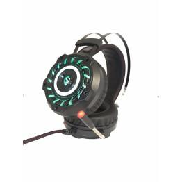 компьютерные проводные игровые наушники с микрофном, регулятором громкости и 3-я подсветками A6