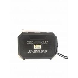 колонка с USB, SD, FM, Bluetooth, фонариком и 1-динамиком 18см*12.8см*6см GOLON RX-S332BT