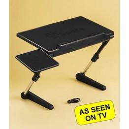 стол для ноутбука с вентилятором, держателем для мышки и регулировкой высоты до 55см AirSpace AS