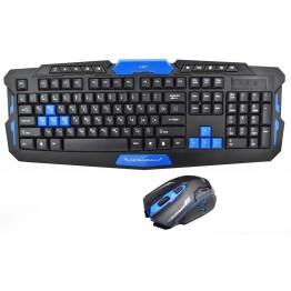 профессиональная беспроводная игровая клавиатура в комплекте с мышкой HK8100