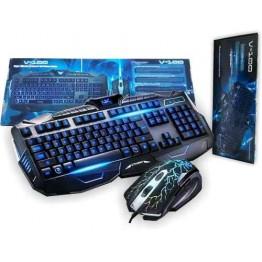 профессиональная проводная игровая клавиатура с 3-я подсветками и мышкой V-100L