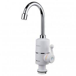 проточный водонагреватель с боковым регулятором и металлическим краном до 60град, 3000ватт RX-004 (на ящике 35-20)