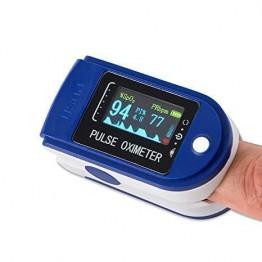 пульсометр на палец с функцией измерения кислорода от батареек PULSE OXIMETER