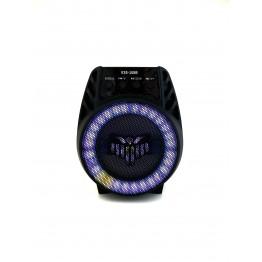 колонка мини-чемодан от сети и от аккумулятора с USB, SD, FM, AUX, Bluetooth, светомузыкой бэтмена и ручкой 18.5см*15.5см*11см, 5ватт ESS-108B