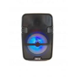 колонка мини-чемодан от сети и от аккумулятора с USB, SD, FM, AUX, Bluetooth, светомузыкой и ручкой 20.5см*14.5см*11см, 5ватт ESS-110