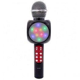 беспроводной микрофон-караоке с фунцией фонограммы, светомузыкой, USB, SD, FM, AUX и Bluetooth WS-1816