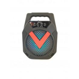 колонка мини-чемодан от сети и от аккумулятора с USB, SD, FM, AUX, Bluetooth и светомузыкой 26.5см*19см*11см, 5ватт ESS-211