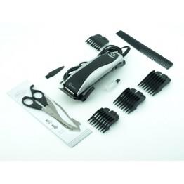 машинка для стрижки волос от сети с 4-я насадками, ножницами и расческой SP-4605