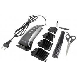машинка для стрижки волос от сети с 4-я насадками, ножницами и расческой SP-4607