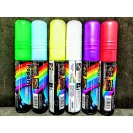 флуоресцентный маркер для рисования на Led доске в цветах 10мм (в упаковке 6шт)