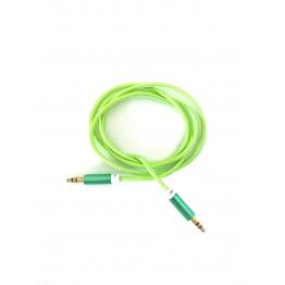 кабель AUX 3,5 jack на 3,5 jack однотонный с металлическим наконечником A-601
