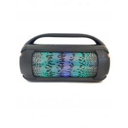 колонка в виде бумбокса от сети и от аккумулятора с USB, SD, FM, AUX, Bluetooth, светомузыкой, ручкой и с выходом на микрофон 32.5см*19см*13см 4ватт A612