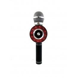 беспроводной микрофон-караоке с фунцией фонограммы, светомузыкой, записью, USB, SD, FM, AUX и Bluetooth WS-669