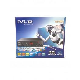 эфирная цифровая приставка в металлическом корпусе T2 с дислеем, разъёмом под Wi-Fi и пультом (Full HD 1080) AT-788