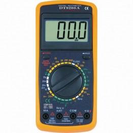 многофункциональный цифровой мультиметр с дисплеем, звуком и датчиком температуры DT-9208A оригинал