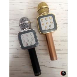 беспроводной микрофон-караоке с фунцией фонограммы, USB, SD, FM, AUX и Bluetooth 1818