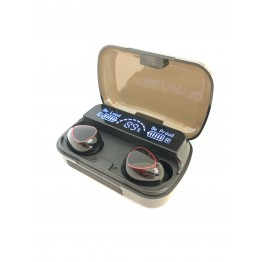 беспроводные Bluetooth наушники с cенсорной регулировкой, зарядным кейсом и дисплеем индикатора зарядки Stereo NEWEST M10