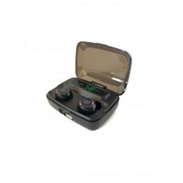 беспроводные Bluetooth наушники с cенсорной регулировкой, зарядным кейсом и дисплеем индикатора зарядки Stereo NEWEST M11