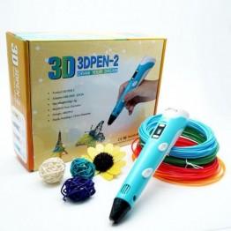 3D ручка от сети (с адаптером), LCD дисплеем, регулировкой температуры, автоотключением, диаметром 0.7мм и пластик в комплекте