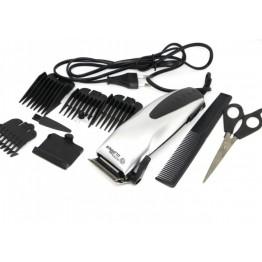 машинка для стрижки волос от сети с 4-я насадками, ножницами и расческой SP-4601