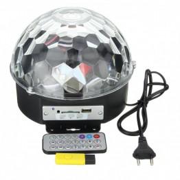 музыкальный дискошар с Bluetooth, USB, светомузыкой, 2-я динамиками и пультом
