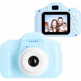 цифровой детский фотоаппарат в пластиковом матовом корпусе, 3mp, дисплеем 2.0 с функцией видеосъемки