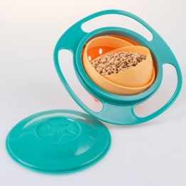 детская непроливающая тарелка с наклоном 360 градусов и крышкой (на ящике li-3-20)