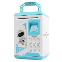 детский сейф для денег, ценностей с кодом и отпечатком пальца ROBOT BODYGUARD №.906