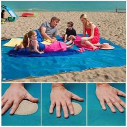 пляжная подстилка анти-песок размером 150см*200см Sand Free Mat (на ящике li-9-20)