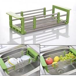 универсальная раздвижная кухонная сушка для посуды размером от 33см до 48см KITCHEN DRAIN SHELF (на ящике li-8-20