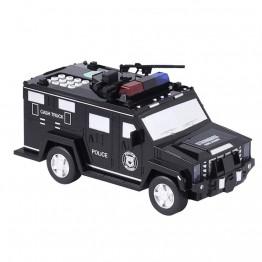 детский сейф для денег, ценностей с кодом и отпечатком пальца в виде полицейской машины CASH TRUCK №.6688-19