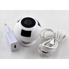 камера wifi HD с SD card до 128GB, панорамным обзором и удаленным управлением, ночным режимом и громкой связью FV-938