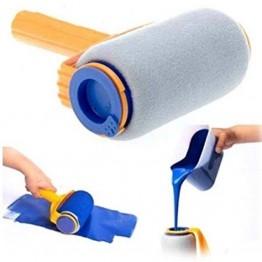универсальный тканевый валик для покраски с емкостью 275мл, раздвижным держателем и лейкой (на ящике li-2-20)