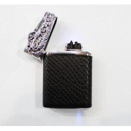 USB зажигалка плазменная электроимпульсная с датчиком движения на две дуги в виде крокодила Z-028