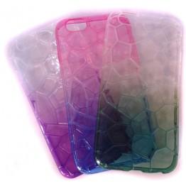 чехол силикон.прозрачный геометрия градиент FASHION CASE на iph5/5S COV-017