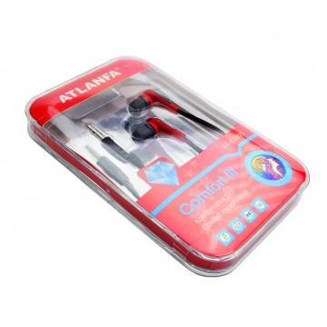 наушники вакуумные в пластик.упаковке ATLANFA AT-1021