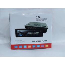 автомагнитола со съёмной панелью, 4-я выходами, Bluetooth, USB, SD, FM, AUX, евро-разъемом и радиатором охлаждения 1084
