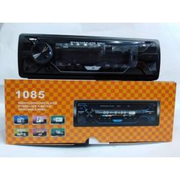 автомагнитола со съёмной панелью, 4-я выходами, Bluetooth, USB, SD, FM, AUX, евро-разъемом и радиатором охлаждения 1085