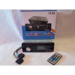 автомагнитола с 4-я выходами, Bluetooth, USB, SD, FM, AUX, разъемом зарядки телефона, евро-разъемом и радиатором охлаждения 1132