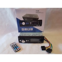 автомагнитола с 4-я выходами, Bluetooth, USB, SD, FM, AUX, разъемом зарядки телефона, евро-разъемом и радиатором охлаждения 1135