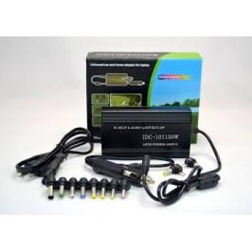 универсальное зарядное устройство для ноутбуков с прикуривателем и 8-ю насадками DC 12-24V 120W