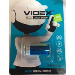 батарейка литиевая VIDEX 3V CR123A, CR17345/5018LC (1шт/20шт)
