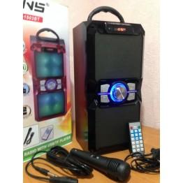 бумбокс колонка от сети и от аккумулятора с микрофоном, USB, SD, FM, Bluetooth, светомузыкой и с выходом на AUX, 36см*17см*14см NNS-1503BT