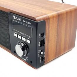 колонка с USB, SD, FM, Bluetooth, ручкой, дисплеем, 1-динамиком и сабвуфером 20.5см*14см*11см ATLANFA 1822BT