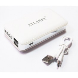 портативн.зарядн.устр. Power Bank 2USB+фонарик 7200mA AT-2015 Elite