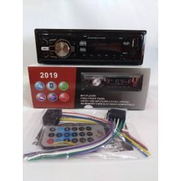 автомагнитола с 4-я выходами, USB, SD, FM, AUX, предохранителем, евро-разъемом и радиатором охлаждения 2019