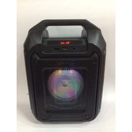 колонка мини чемодан от сети и от аккум с USB, SD, FM, AUX, Bluet., светомуз., зкукозаписью, с микрофоном и кронштейном 29см*20см*13.5см 9ват B315-B