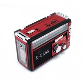 радиоприемник от сети с USB, SD, аккумулятором и со светодиодным фонариком 16.5см*10.5см*7см GOLON RX-381