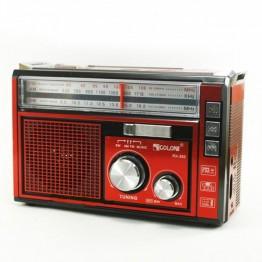 радиоприемник от сети с USB, SD, аккумулятором и со светодиодным фонариком 16.5см*10.5см*7см GOLON RX-382